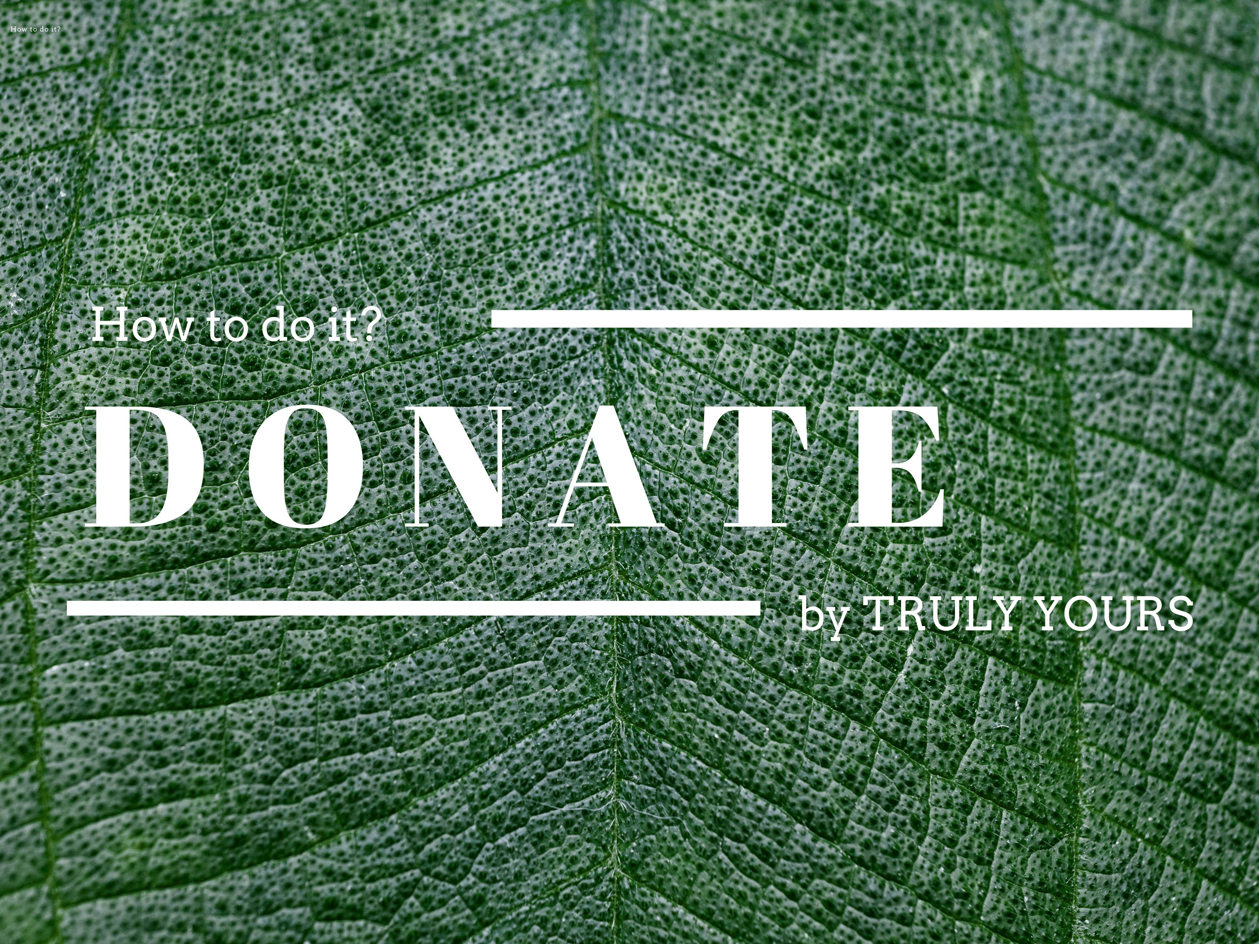 Donate fashion mode Bekleidung nachhaltig