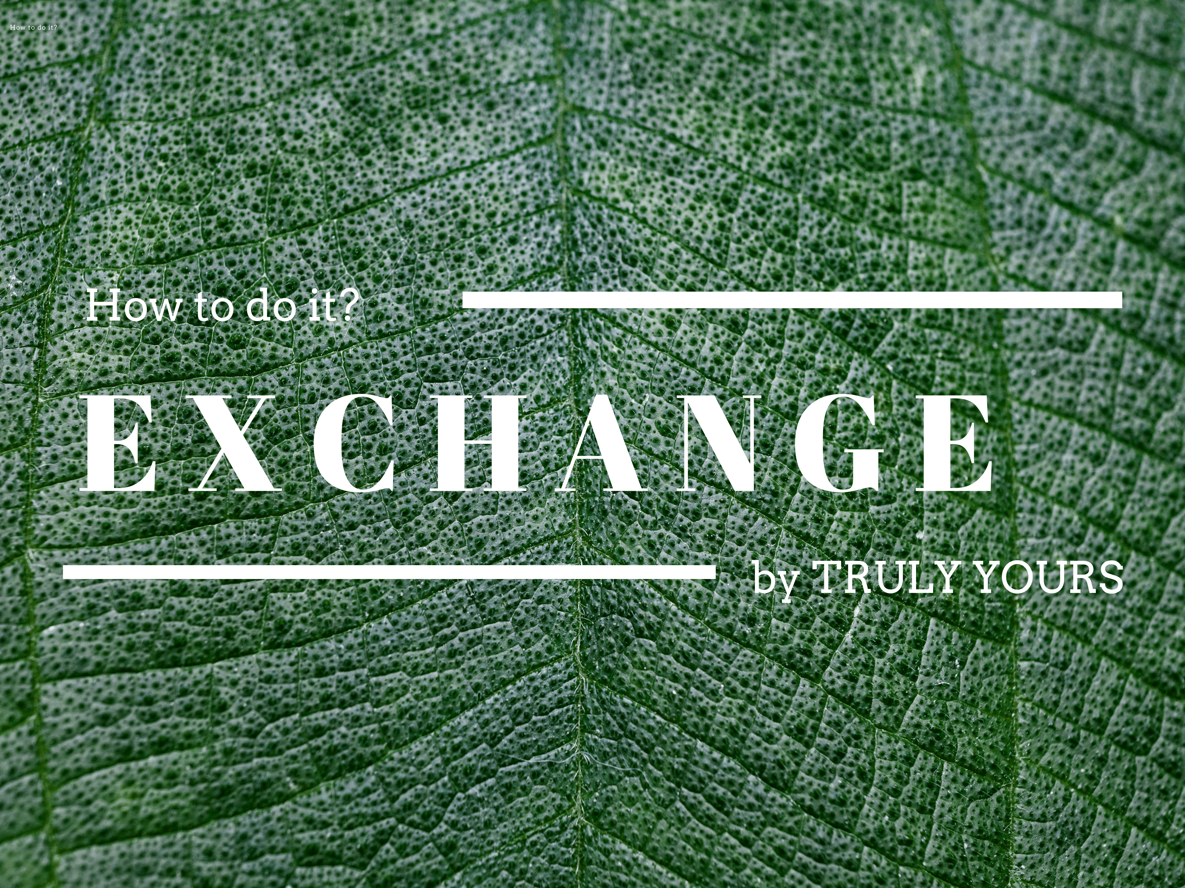 Exchange fashion mode Bekleidung nachhaltig