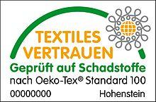 OEKO-TEX_Standard-100 textiles vertrauen logo